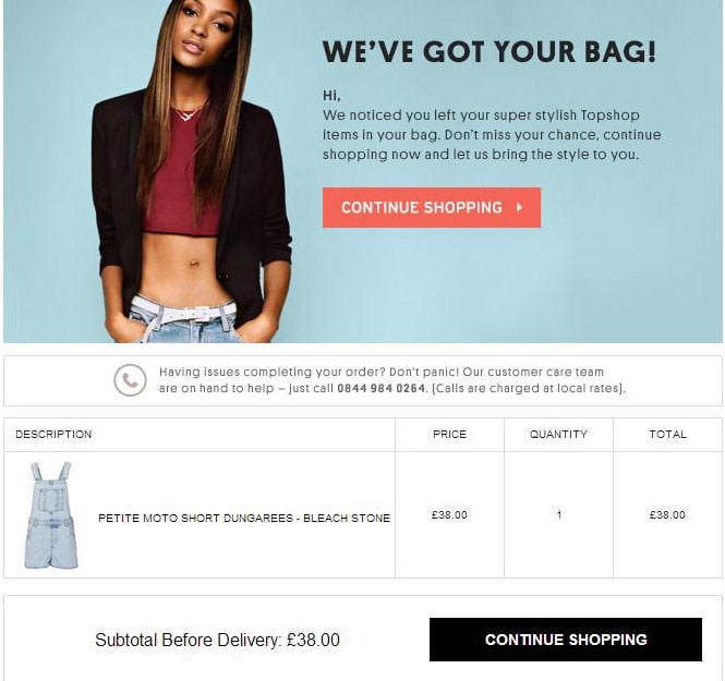 Abandoned Carts - conversion of email campaigns by using the competitors prices