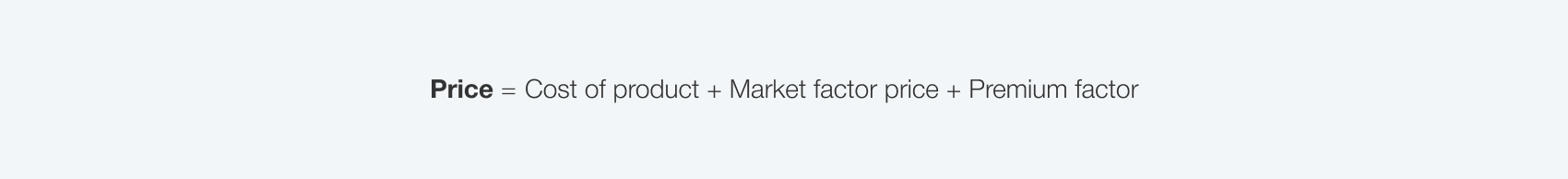 market-based-pricing-formula
